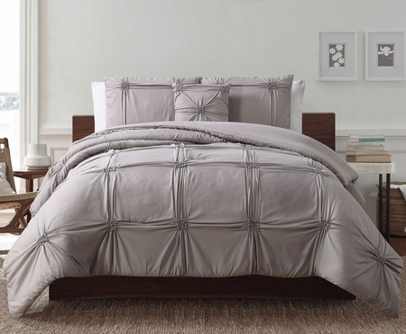 4 Piece Reese Latte Comforter Set