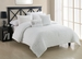 5 Piece Full Empire White Comforter Set