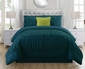 5 Piece Jervis Teal Comforter Set