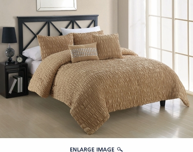 5 Piece King Empire Straw Comforter Set