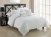 5 Piece King Empire White Comforter Set