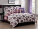 5 Piece King Rashida Reversible Comforter Set