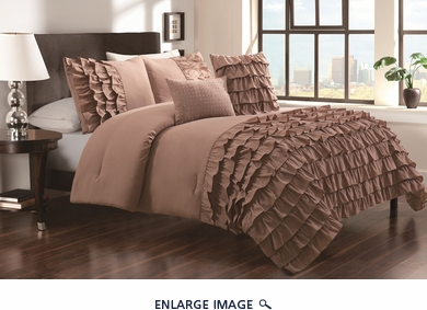 5 Piece King Taylor Prairie Wheat Comforter Set