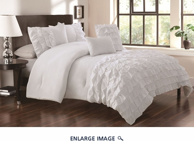 5 Piece King Taylor White Comforter Set