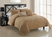 5 Piece Queen Empire Straw Comforter Set