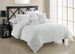5 Piece Queen Empire White Comforter Set