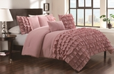 5 Piece Queen Taylor Country Pink Comforter Set