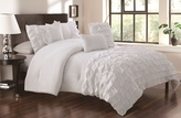 5 Piece Queen Taylor White Comforter Set