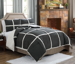 5 Piece Twin Laurel Jacquard Bedding Bed in a Bag Set Dusty Olive