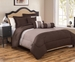 6 Piece Cal King Tranquil Coffee and Taupe Comforter Set