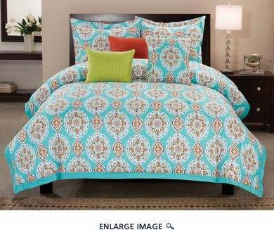 6 Piece King Seraphina Cotton Comforter Set
