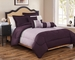 6 Piece Queen Tranquil Plum and Lavender Comforter Set