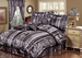 7 Piece Cal King Amethyst Jacquard Comforter Set Purple