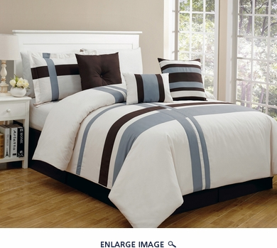 7 Piece Cal King Greenwich Comforter Set