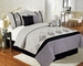 7 Piece Cal King Herstal Black and Gray Bedding Comforter Set