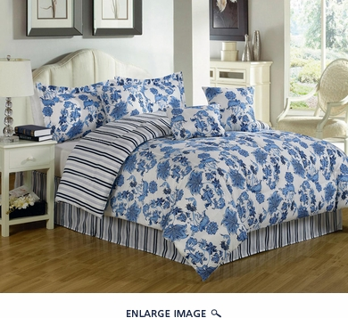 7 Piece Cal King Kiowa Comforter Set