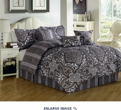 7 Piece Cal King Lorrain Comforter Set