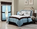 7 Piece Cal King Messina Blue and White Comforter Set
