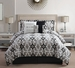 7 Piece Cal King Mr. And Mrs. Print Comforter Set