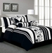 7 Piece Cal King Rianna Black and White Comforter Set