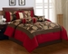 7 Piece Cal King Rylee Floral Embroidered Comforter Set