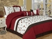 7 Piece Full Sakura Embroidered Bedding Comforter Set