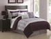 7 Piece King Cole Plum and Lavender Comforter Set