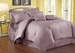 7 Piece King Damask Stripe 500 Thread Count Cotton Comforter Set Purple