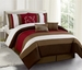 7 Piece King Danville Stripe Comforter Set
