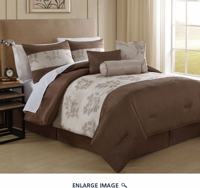7 Piece King Escapade Embroidered Comforter Set