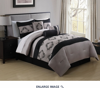 7 Piece King Gayle Embroidered Comforter Set