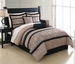 7 Piece King Genesis Embroidered Comforter Set