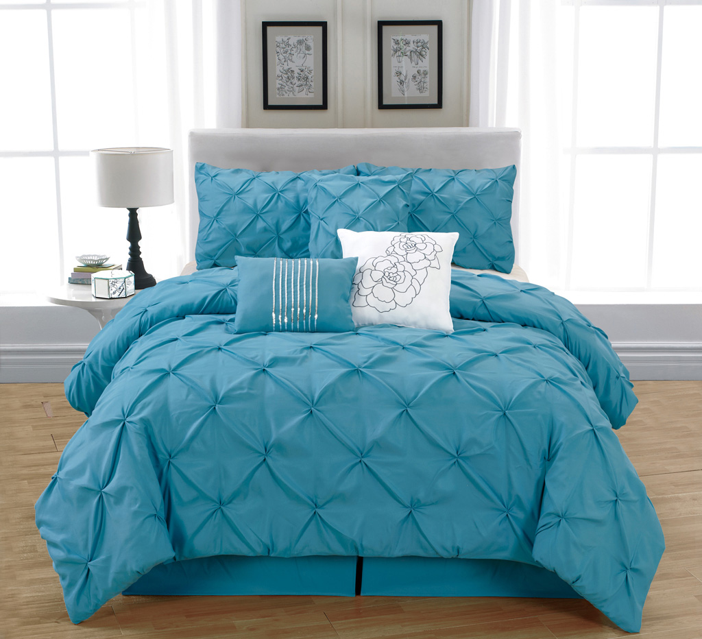 Blue bedspreads and comforters - Piece King Jolie Blue Comforter Set Blue
