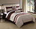 7 Piece King Lansing Embroidered Comforter Set