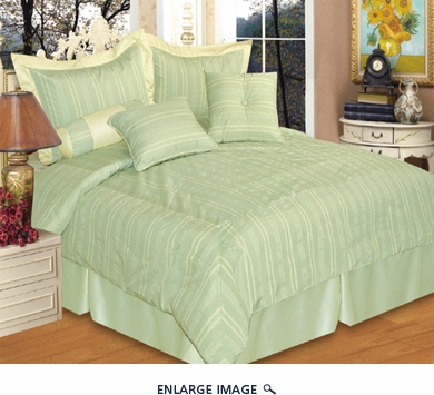 7 Piece King Palmer Jacquard Bedding Comforter Set