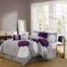 7 Piece King Provence Embroidered Comforter Set