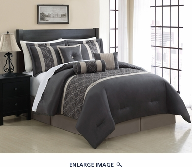 7 Piece King Renee Embroidered Comforter Set