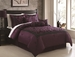 7 Piece King Rochester Flocking Comforter Set