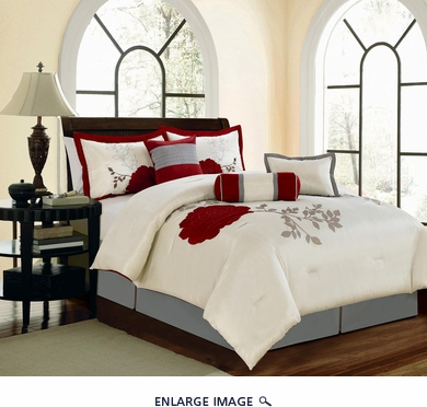 7 Piece King Wichita Embroidered Comforter Set