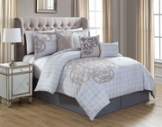 7 Piece North Gray/Taupe Comforter Set