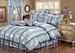 7 Piece Queen Amethyst Jacquard Comforter Set Blue