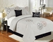 7 Piece Queen Calantha Silver Gray Bedding Comforter Set