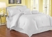 7 Piece Queen Damask Stripe 500 Thread Count Cotton Duvet Cover Set White