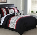 7 Piece Queen Halston Embroidered Comforter Set