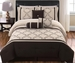 7 Piece Queen Hannah Chocolate and Beige Comforter Set
