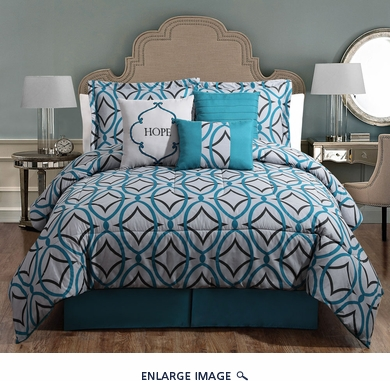 7 Piece Queen Hope Comforter Set