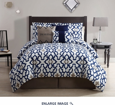 6 Piece Queen Imagine Print Comforter Set