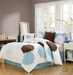 7 Piece Queen Louisburg Applique Comforter Set
