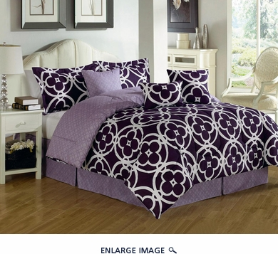7 Piece Queen Quarten Comforter Set