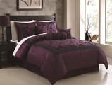 7 Piece Queen Rochester Flocking Comforter Set